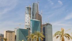 Site de construction du quartier des finances de Riyad